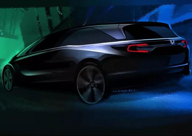 Teaser da nova geração da Honda Odyssey (Foto: Divulgação)
