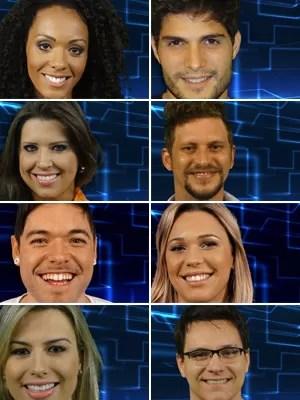 Montagem mostra os 8 primeiros participantes do BBB13 (Foto: Divulgação/TV Globo)