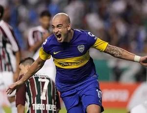 Santiago Silva, Fluminense x Boca Juniors (Foto: Agência AP)