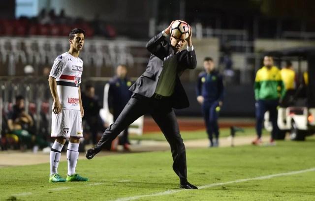 Rogério Ceni não consegue fazer o São Paulo engrenar na temporada (Foto: Marcos Ribolli)