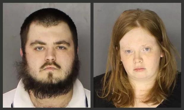 Gary Lee Fellenbaum, de 23 anos , e Jillian Tait, de 31 anos, foram presos pela morte do filho de 3 anos da mulher (Foto: Chester County District Attorney's Office/AP)