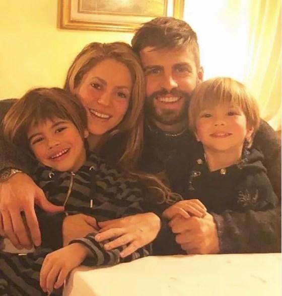 Singer Shakira with her husband and children (Photo: Instagram)