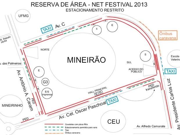 Mapa (Foto: Divulgação / BHTrans)