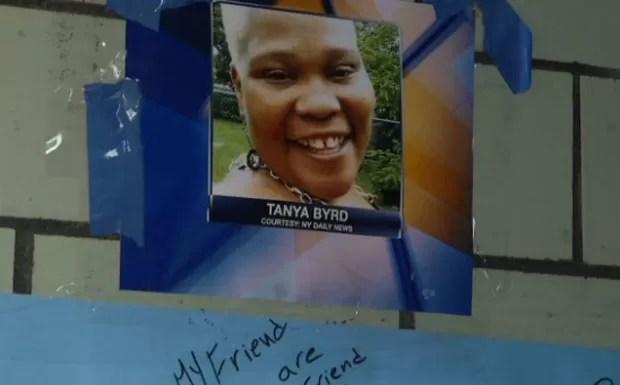 Partes do corpo de Tanya Byrd foram encontrados em sacos (Foto: Reprodução)