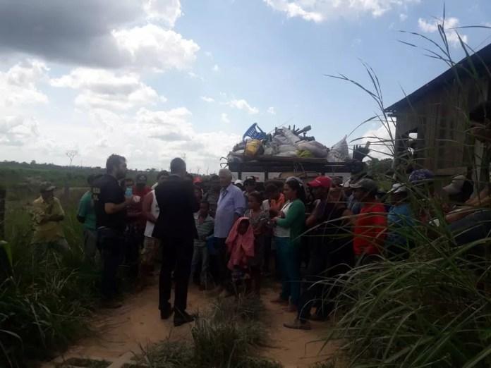 Tentativa de ocupação de fazenda é impedida por policiais da Delegacia de Conflitos Agrários, no Pará. — Foto: Reprodução / Polícia Civil