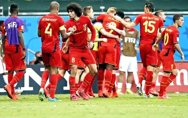 Bélgica comemoração jogo Estados Unidos (Foto: EFE)
