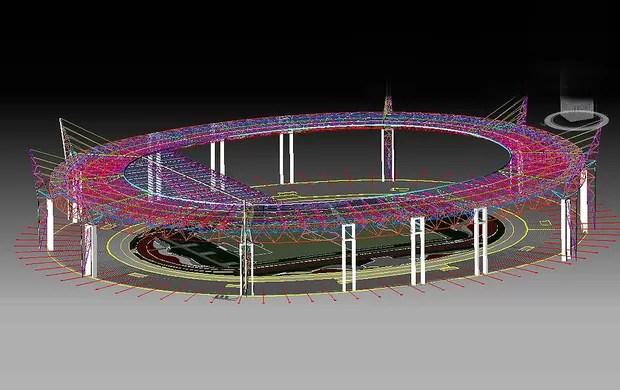 Cobertura estádio morumbi (Foto: Divulgação / Site oficial do São Paulo)