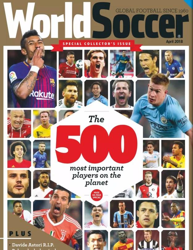 Vinicius aparece na capa da World Soccer entre os 500 jogadores mais importantes do mundo