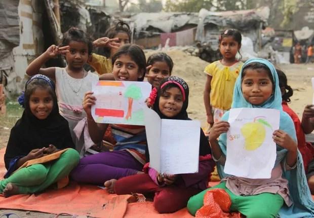Um dos projetos apoiados pela Global Girls Alliance é o SHEF's Girls' Education Initiative, que quer levar educação à áreas rurais da Índia (Foto: GOFundMe)