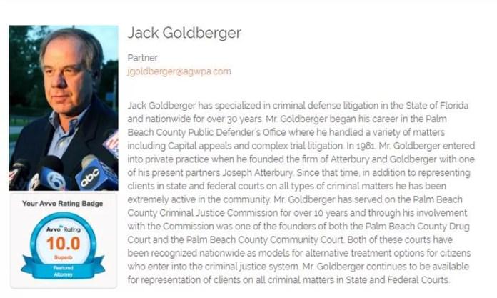 Advogado Jack Goldberger representou goleiro Jean, do São Paulo — Foto: Reprodução