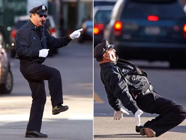 Tony Lepore é conhecido como 'policial dançarino' (Foto: Stephan Savoia/AP)