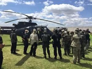 Treinamento realizado pela Coordenação de Aviação Operacional da Polícia Federal (Foto: Divulgação / Polícia Federal)