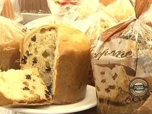 Panetone produto natalino Natal (Foto: Reprodução/TV Rio Sul)