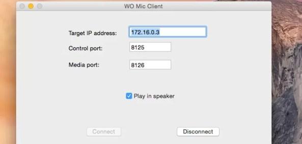 App Wo Mic conectado a dispositivo Android no Mac (Foto: Reprodução/Edivaldo Brito)