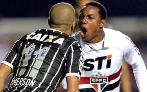 Wellington Emerson jogo Corinthians São Paulo Recopa (Foto: AFP)