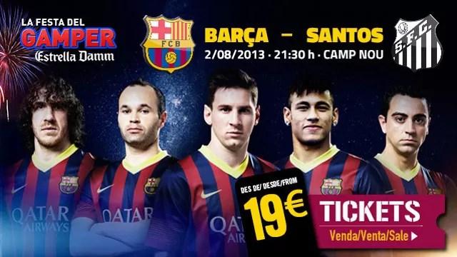 Cartaz para jogo Barcelona Santos (Foto: Divulgação/ Barcelona)