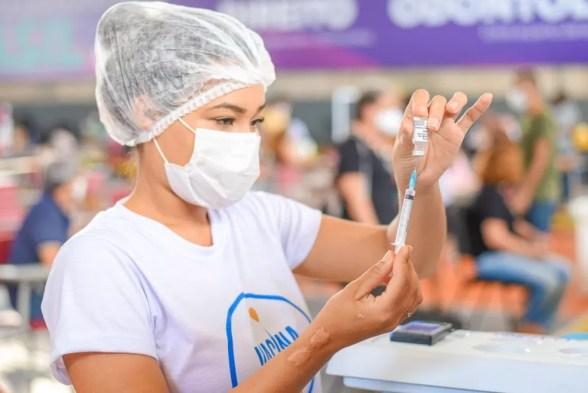 Vacinação contra a Covid-19 em São Luís — Foto: Divulgação/Prefeitura de São Luís