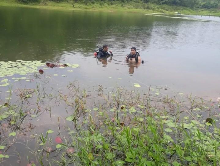 Vítima tentava recuperar vara de pesca — Foto: Corpo de Bombeiros/Divulgação