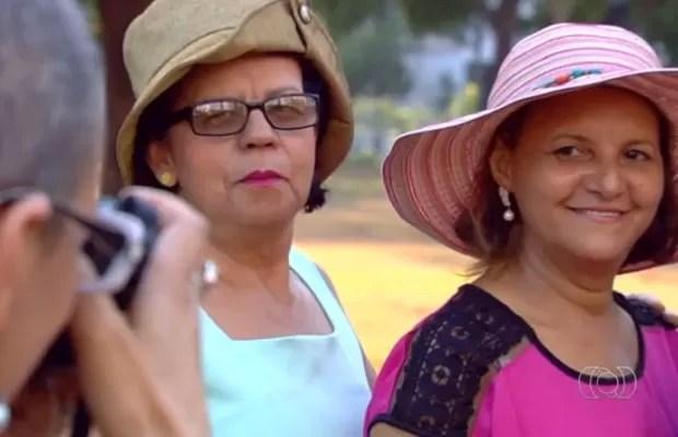 Mulheres estrelam campanha para motivar pacientes de câncer em Goiás (Foto: Reprodução/ TV Anhanguera)