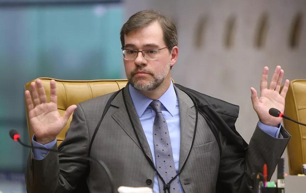 O ministro Dias Toffoli abriu a corrente que determinou a soltura de José Dirceu na última quarta-feira (3) (Foto: Nelson Jr./SCO/STF)