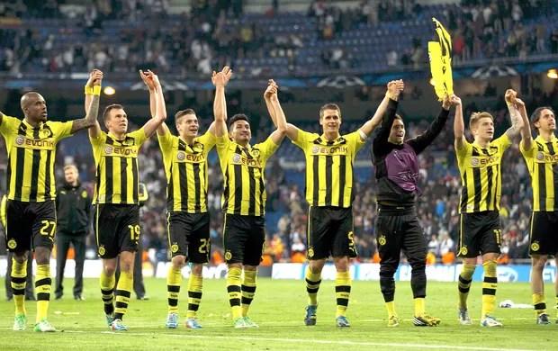 comemoração Borussia Dortmunt Liga dos Campeões (Foto: Reuters)