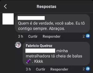 Fabricio Queiroz responde comentário