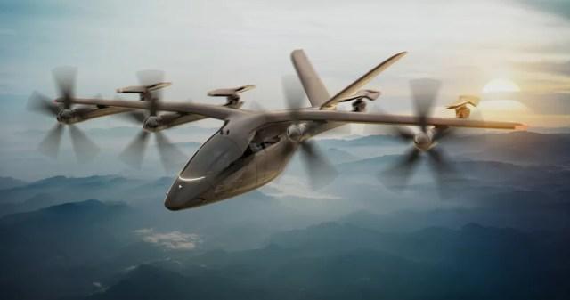Conceito do VA-X4, eVTOL da Vertical Aerospace — Foto: Reprodução/Vertical Aerospace