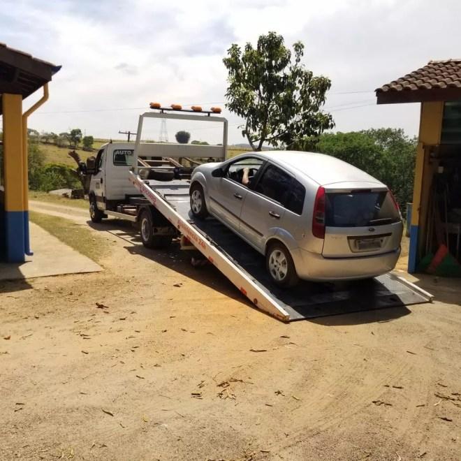 Carro de suspeito um dos suspeitos de cometer homicídio em Itatiba foi apreendido (Foto: Polícia Militar de Sorocaba/Divulgação)