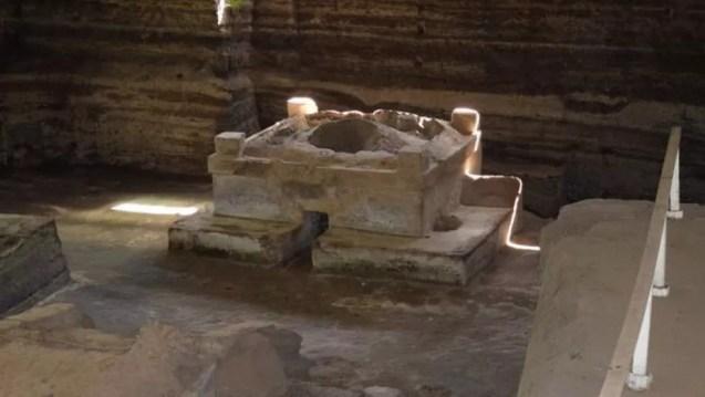 Em Joya de Cerén foi encontrado um temazcal, também conhecido como saudas, onde os maias faziam rituais (Foto: MINISTÉRIO DE CULTURA DE EL SALVADOR)