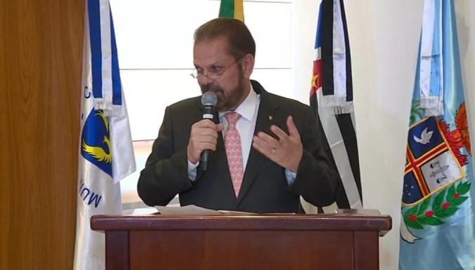 Reinaldo Carneiro Bastos, presidente da FPF — Foto: Carlos Velardi / EPTV
