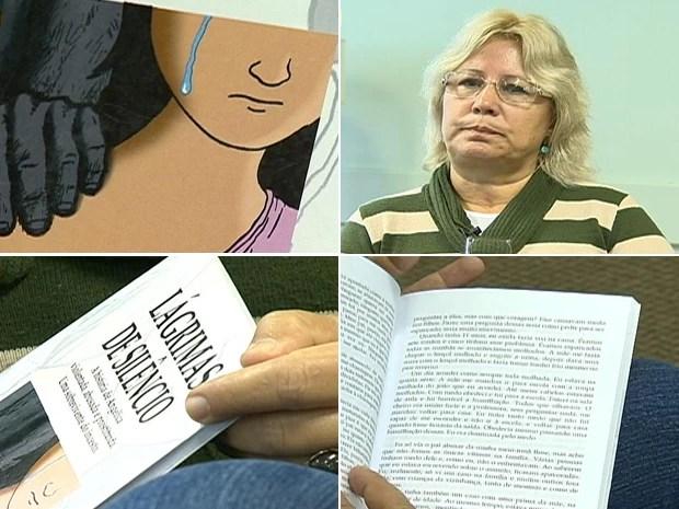 """Livro """"Lágrimas no Silênci"""" relata história pessoal de Ângela Chaves (Foto: Reprodução/RBS TV)"""