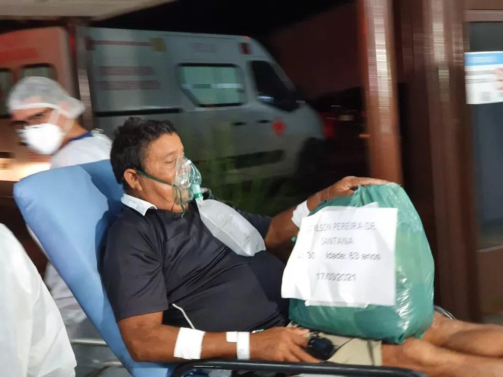 Edilson Santana é um dos pacientes que vai para Manaus para tratar a Covid-19  — Foto: Andryo Amaral/Rede Amazônica Acre
