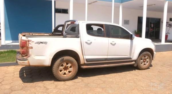 Veículo clonado foi encontrado pela polícia no bairro Bacaba em Balsas (Foto: Reprodução/TV Mirante)