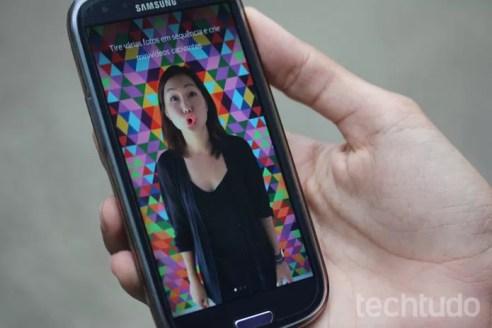 Boomerang, do Instagram, cria vídeos com suas expressões (Foto: Isabela Giantomaso/TechTudo)