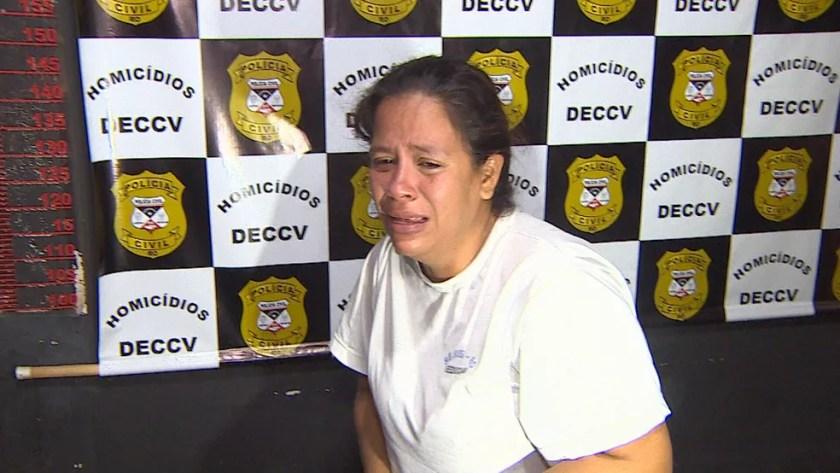 Caso Fabiana: Cátia Barros Rabelo, suspeita de ajudar a arrancar bebê da barriga da mãe — Foto: Reprodução/Rede Amazônica