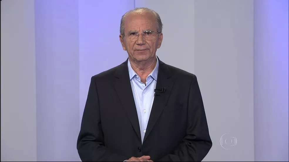 Jofran Frejat (PR), candidato ao GDF, no debate da TV Globo, em 2014, em imagem de arquivo — Foto: Reprodução/TV Globo