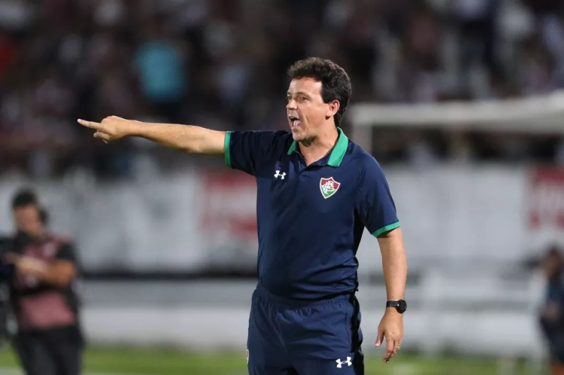Fernando Diniz Santa Cruz x Fluminense Copa do Brasil — Foto: Aldo Carneiro / Pernambuco Press