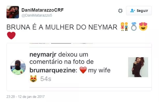 Comentário de Neymar quebra a internet (Foto: Reprodução / Twitter)
