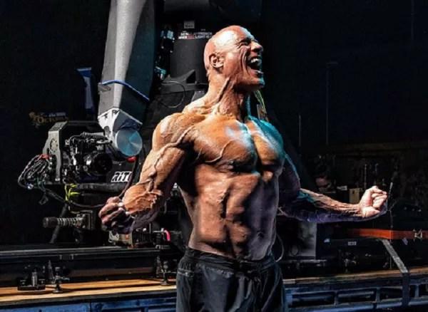 Actor Dwayne The Rock Johnson on the set of Black Adam (Photo: Instagram)