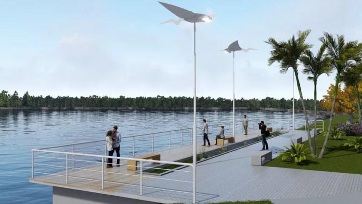 Região dos Quintas vai ganhar centro comercial posicionado em frente a um pequeno oásis (Foto: Grupo Cem/Divulgação)