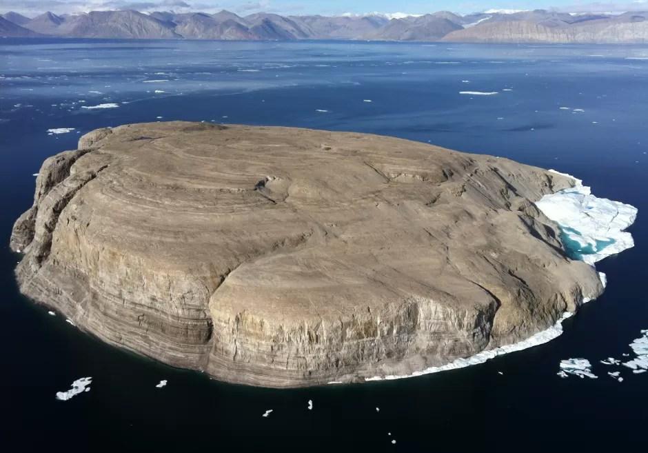 A Ilha Hans tem pouco mais 1 km quadrado de área (Foto: Wikimedia Commons)