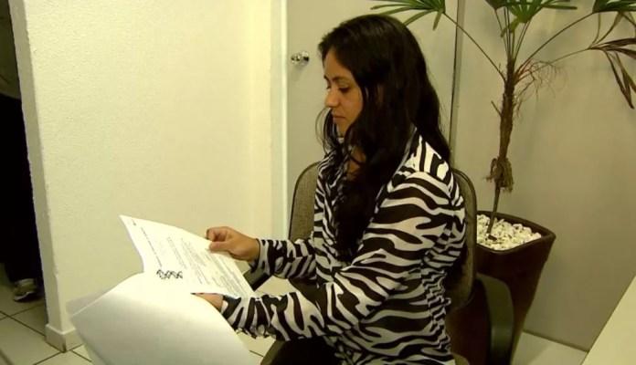 Ana Paula Câncio confirmou, com exames de DNA, que seu filho não morreu na Santa Casa de Franca (SP) (Foto: Reprodução/EPTV/Arquivo)
