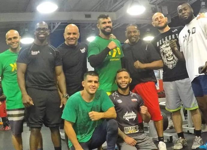 Equipe de treinos de Vitor Belfort nos Estados Unidos (Foto: Arquivo pessoal)