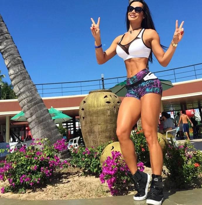 Fernanda D'avila tem o corpo seco, mas cheio de curvas (Foto: Arquivo Pessoal)