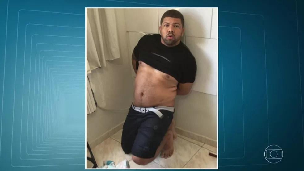 Cachorrão foi preso pela polícia na manhã desta sexta-feira (10). (Foto: Reprodução/ TV Globo)
