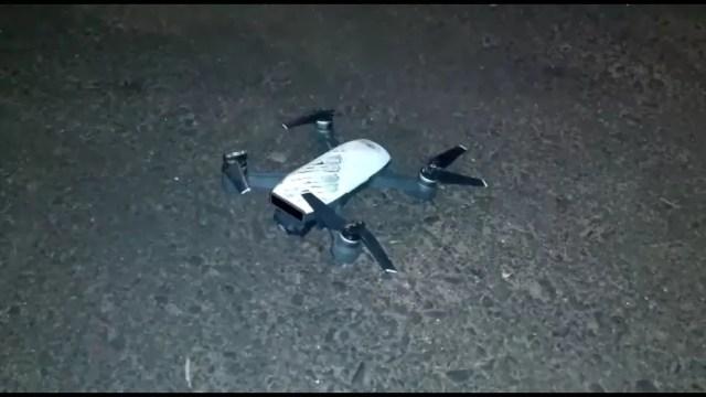 Criminosos contaram com auxílio de drone para monitorar policiais em Araçatuba (SP) — Foto: Arquivo pessoal