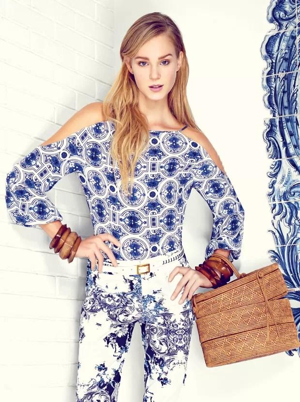 """Edição de agosto da Vogue, o editorial """"Além-mar"""", com styling de Karine Vilas Boas"""