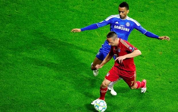 Franck Ribery na partida do Bayern de Munique contra o Chelsea final Liga dos Campeões (Foto: AFP)
