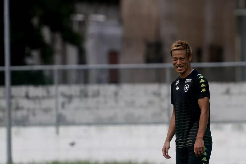 Honda tem contrato até dezembro — Foto: Vitor Silva/Botafogo