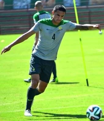 Tim Cahill é o principal jogador da Austrália nesta Copa do Mundo (Foto: Henrique Montovanelli/Desportiva Ferroviária)
